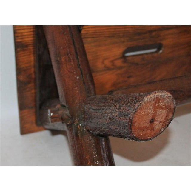 Early 20th Century Old Hickory Furniture Co. Bench For Sale - Image 5 of 11