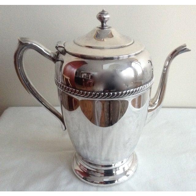 Vintage 1950s Silver-Plate Tea Service Pot - Image 3 of 5