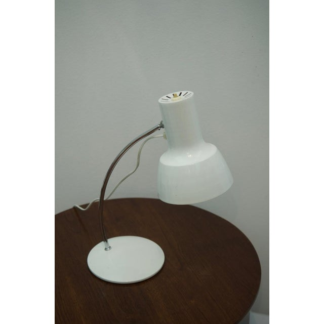 1960s White table lamp by Josef Hurka for Napako For Sale - Image 5 of 8