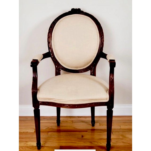 Cesar Seda Italian Hand-Crafted Dining Chairs - Set of 8 - Image 4 of 7