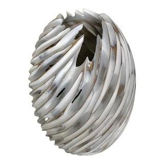 "17"" Large Whitewash Wood Look Vase For Sale"