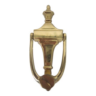 Vintage Brass Door Knocker For Sale