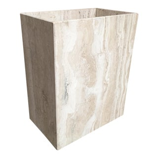 20th Century Modern Travertine Marble Planter For Sale