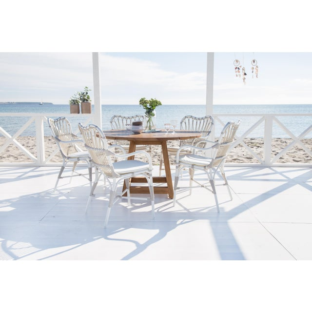 Not Yet Made - Made To Order Margret Exterior Dining chair - Dove White For Sale - Image 5 of 8