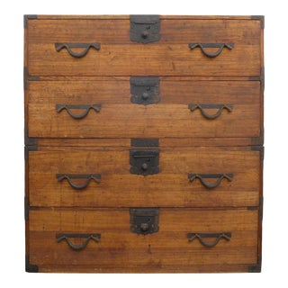 Early 20th Century Japanese Stacking Tansu Chest of Drawers For Sale