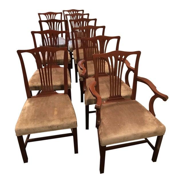 Arthur Brett Mahogany Sunbury Park Dining Chairs - Set of 10 - Image 1 of 10