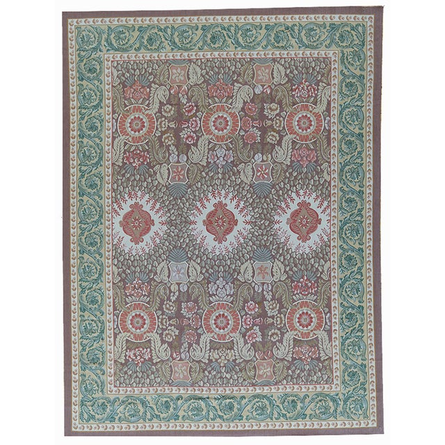 """French Pasargad Aubusson Hand Woven Wool Rug - 11' 0"""" X 15'11"""" For Sale - Image 3 of 3"""