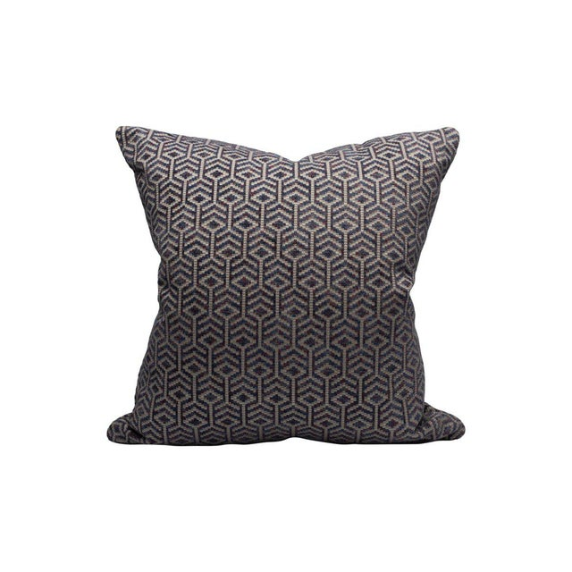 Transitional Scalamandre Axial Pillow, Aubergine For Sale - Image 3 of 3