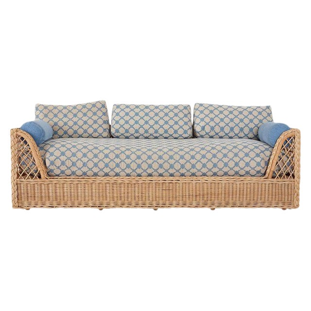 McGuire Organic Modern Rattan and Wicker Daybed Sofa For Sale