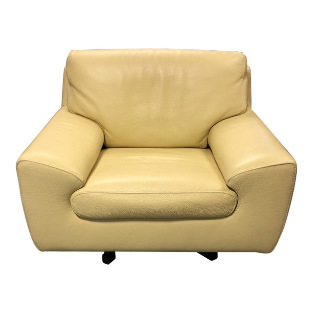 Cool Roche Bobois Leather Swivel Armchair Chairish Cjindustries Chair Design For Home Cjindustriesco