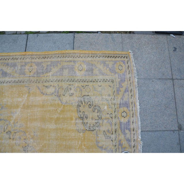 """Tribal Turkish Antique Rug - 71"""" x 109"""" For Sale - Image 6 of 7"""