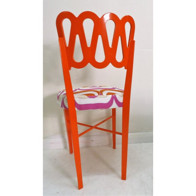 Late 20th Century Newly Lacquered Dining Chairs - Set of 5 For Sale - Image 5 of 8