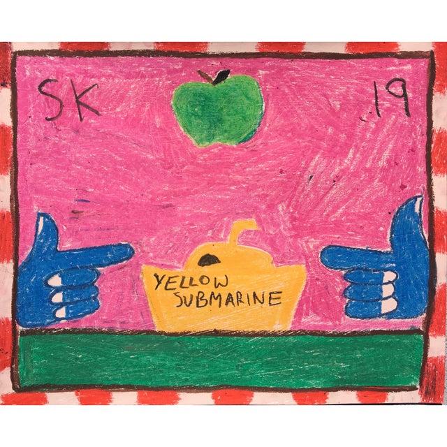 Sean Kratzert 'Yellow Submarine' Oil Pastel Drawing by Sean Kratzert For Sale - Image 4 of 4