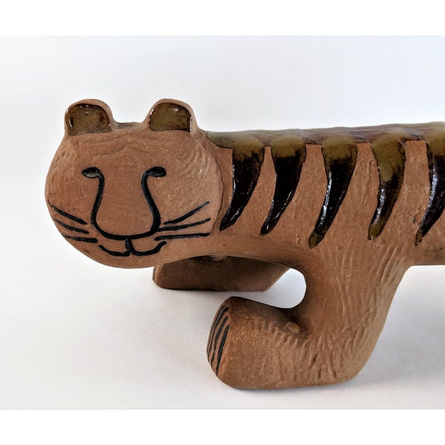 Brown Ceramic Tiger by Lisa Larson for Gustavsberg, 1970s For Sale - Image 8 of 13