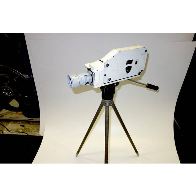 Military Analysis Cinema Camera. Circa Mid 20th Century. Display As Sculpture. On Vintage Tripod. For Sale In Dallas - Image 6 of 7