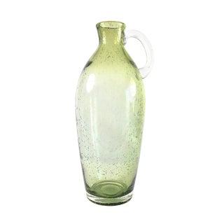 Mint Green Bubble Glass Vase For Sale