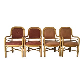 1970s French Country Albert Martin Bentwood Dining Chairs - Set of 4 For Sale
