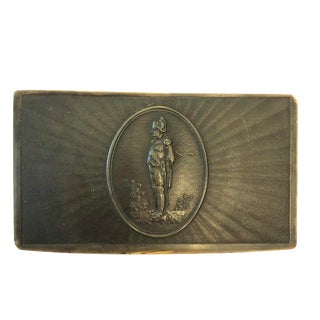 Emperor Napoleon Brown Horn Snuff Box For Sale