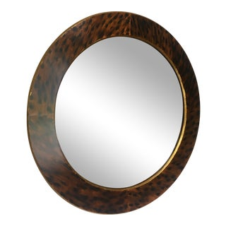 Hand Painted Faux Tortoiseshell Mirror For Sale