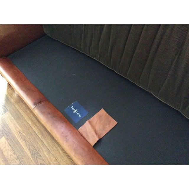 Miraculous Ralph Lauren Brompton Leather Corduroy Sofa Chairish Inzonedesignstudio Interior Chair Design Inzonedesignstudiocom