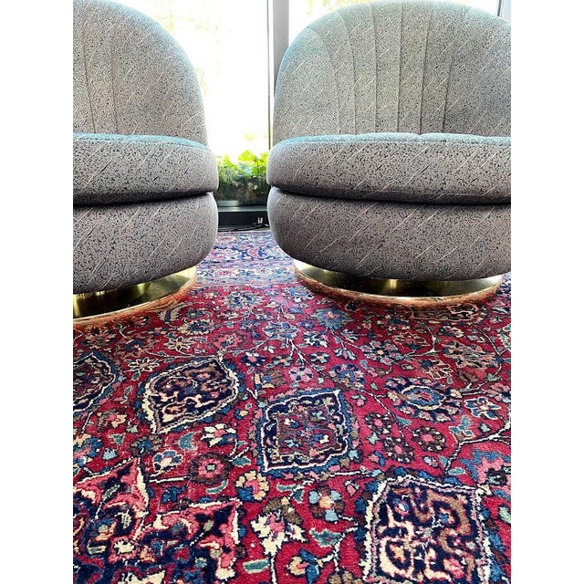 Swivel Club Chairs by Milo Baughman for Thayer Coggin - a Pair For Sale - Image 9 of 13