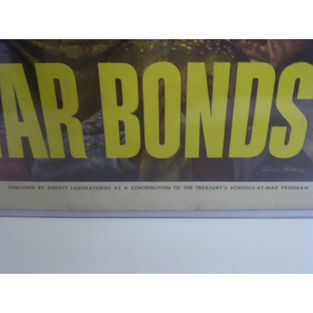 Vintage WWII War Bonds Poster For Sale In Pittsburgh - Image 6 of 8