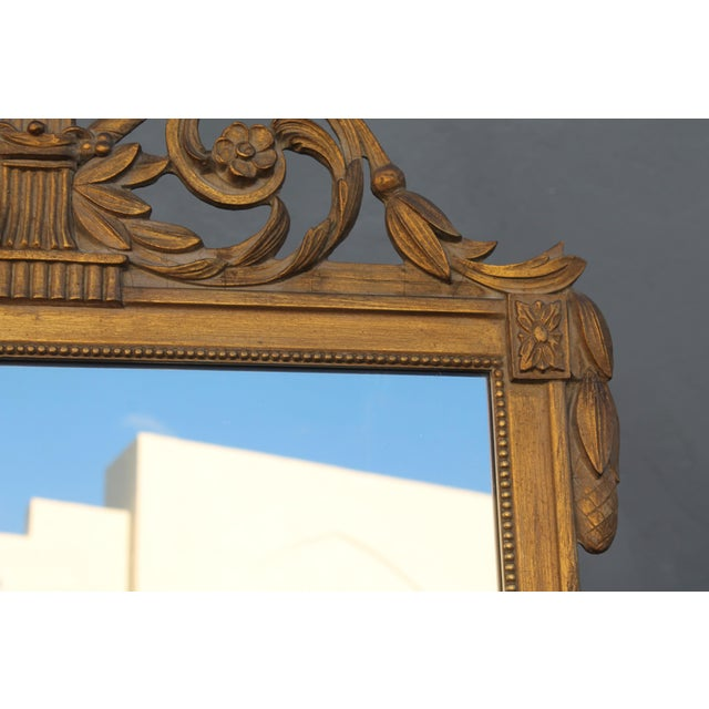 1940's Neoclassical Style Carved Walnut Wall Mirror For Sale In Miami - Image 6 of 13