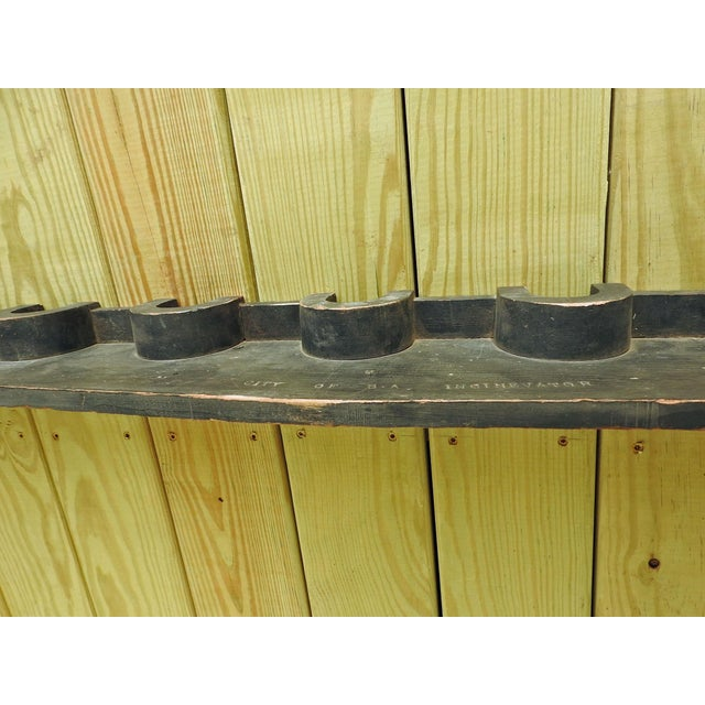 Wood Vintage Wood Industrial Foundry Mold Pediment For Sale - Image 7 of 8