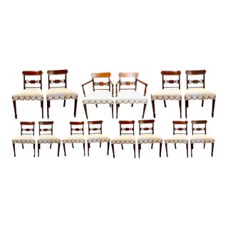Set of Fourteen Period Sheridan Dining Chairs For Sale