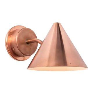 Hans-Agne Jakobsson 'Mini-Tratten' Polished Copper Outdoor Sconce For Sale