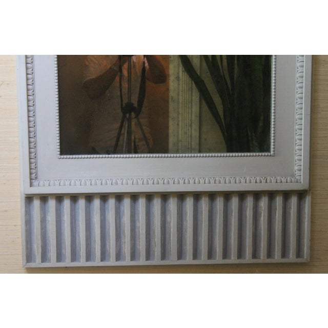 Figurative Figurative Swedish Style Dove Gray Trumeaux Wall Mirror For Sale - Image 3 of 10