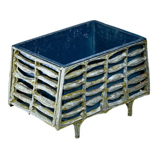 Don Drumm Unique Aluminum and Enameled Steel Planter, 1960s For Sale