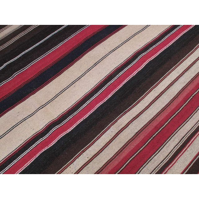 Large Kilim with Vertical Bands For Sale - Image 4 of 6