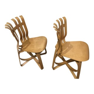 Frank Gehry 1990 Hat Trick Chair - a Pair For Sale