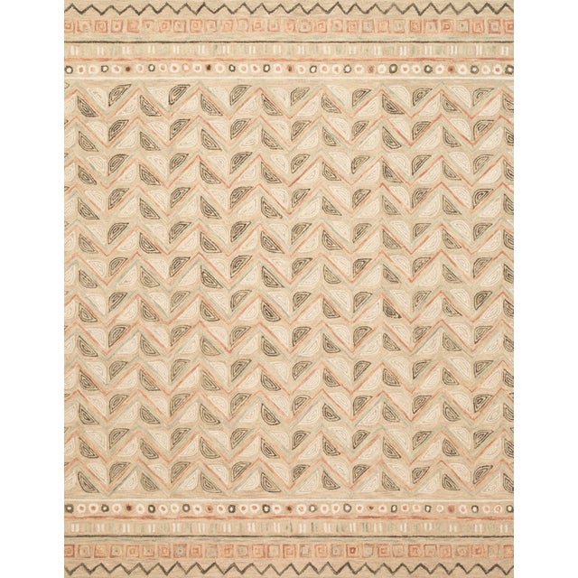 "Loloi Rugs Loloi Rugs Priti Rug, Taupe / Multi - 5'0""x7'6"" For Sale - Image 4 of 4"