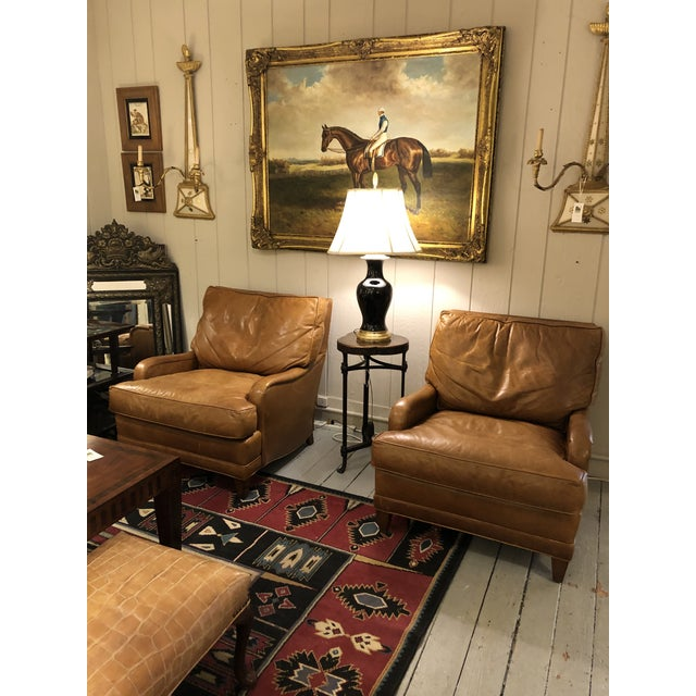 Nancy Corzine Club Chairs -A Pair For Sale - Image 9 of 11