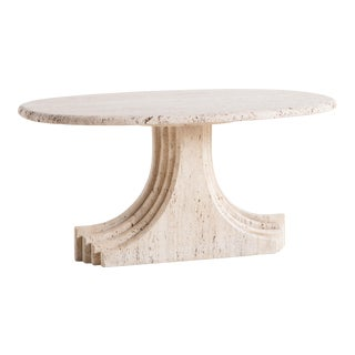 Sculptural Vintage Travertine Coffee Table Attributed to Carlo Scarpa For Sale