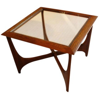 Lane Mid-Century Modern Walnut & Elm Side Table