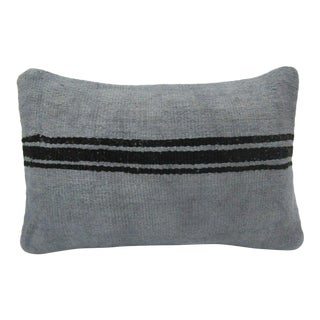 Vintage Handmade Gray Kilim Pillow Cover For Sale