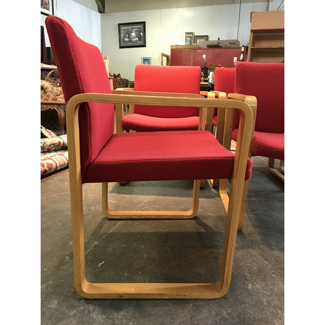 J.G. Furniture Red Laminate Chairs -Set of 6 - Image 6 of 11