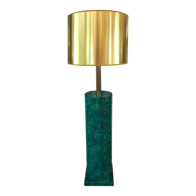 Piero Fornasetti Italian Faux Malachite Floor Lamp For Sale