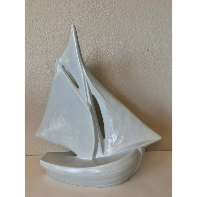 Vintage French Ceramic Sailboat - Image 2 of 11
