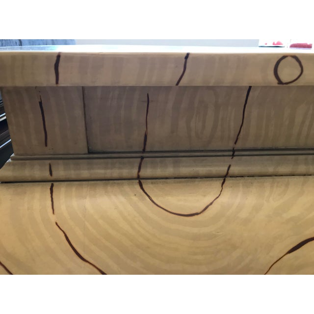 Faux Wood Grain Painted Coffee Table For Sale - Image 9 of 13