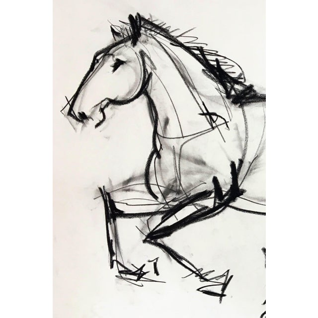 This abstract figurative piece by Heidi Lanino, inspired by the gesture of the horse.