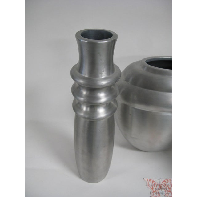 2003 Kilbarry Ireland Marquis by Waterford Pewter Vases - Set of 3 For Sale In Charleston - Image 6 of 13