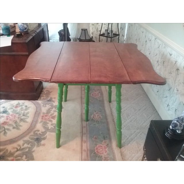 Country Style Drop Leaf Dining Table - Image 2 of 5