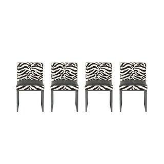 Desiron Zebra Print Dining Chairs - Set of 5