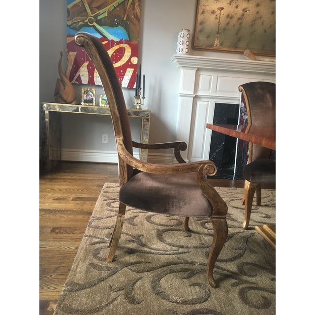 Christopher Guy Brown Velvet Eva Dining Chair - Image 2 of 5
