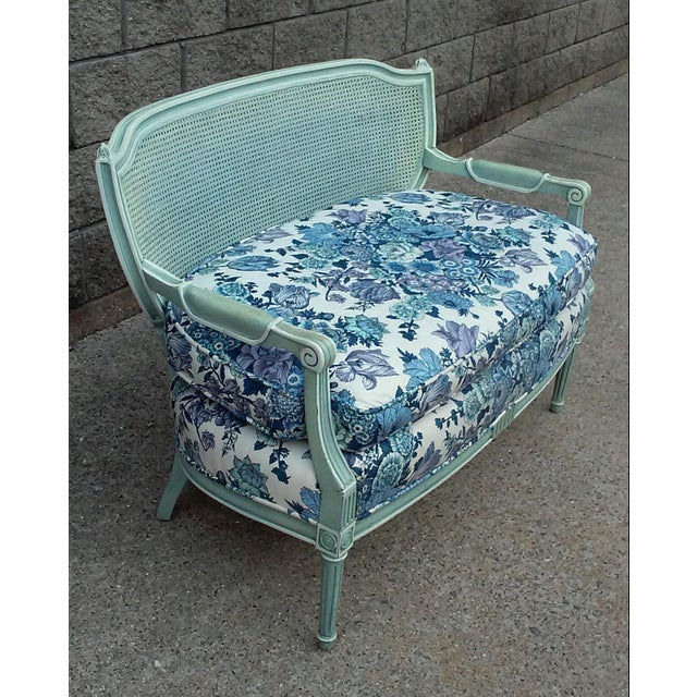 French French Cane Back Settee For Sale - Image 3 of 9