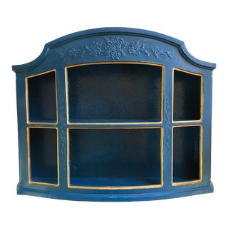 Blue Wall Display Shelf For Sale